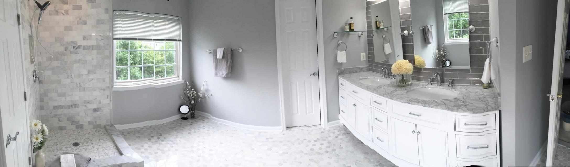 Custom bathroom remodel bristow va building by design for Custom bathroom renovations